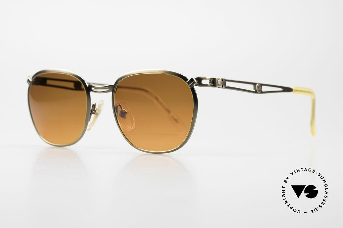 Jean Paul Gaultier 56-2177 Sunset Gläser in Orange Verlauf, aber gewohnte Spitzen-Qualität; wie aus einem Stück, Passend für Herren und Damen