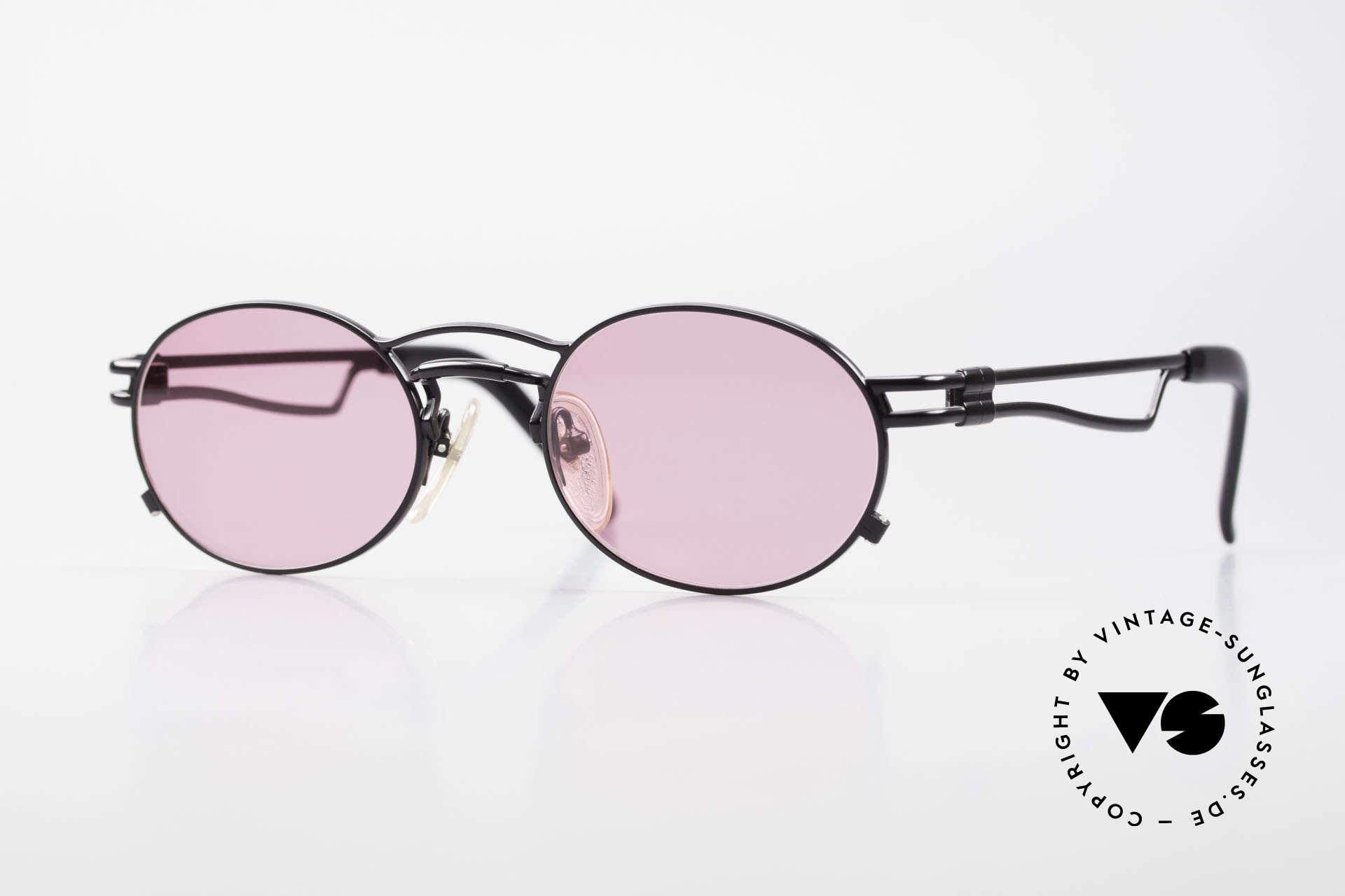 Jean Paul Gaultier 56-3173 Pinke Ovale Vintage Brille, ovale vintage Jean Paul GAULTIER Sonnenbrille von 1995, Passend für Herren und Damen