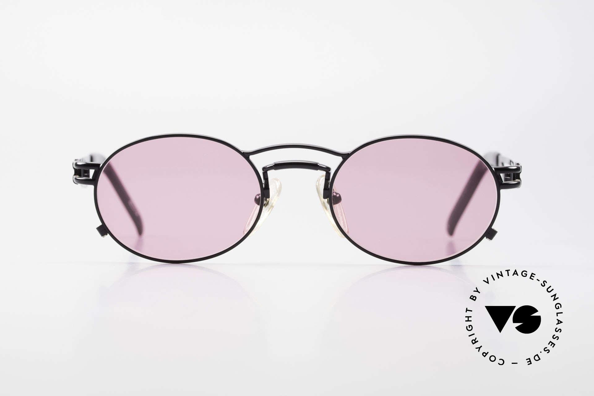 Jean Paul Gaultier 56-3173 Pinke Ovale Vintage Brille, echte Spitzenqualität und ein überragender Tragekomfort, Passend für Herren und Damen