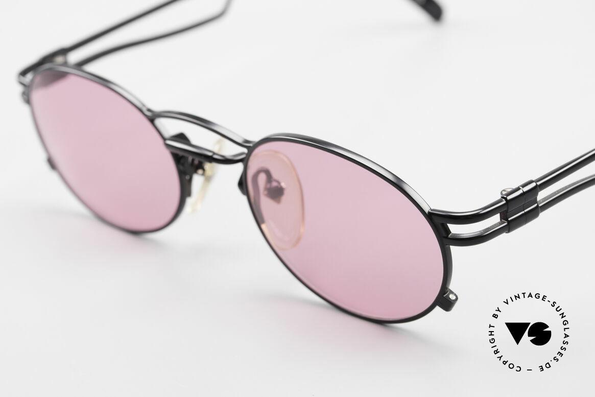 Jean Paul Gaultier 56-3173 Pinke Ovale Vintage Brille, pinke Sonnengläser, um alles rosarot sehen zu können ;-), Passend für Herren und Damen
