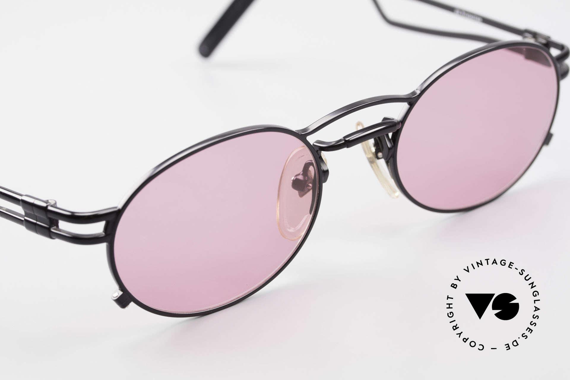 Jean Paul Gaultier 56-3173 Pinke Ovale Vintage Brille, ungetragen (wie alle unsere vintage 90er Designerbrillen), Passend für Herren und Damen