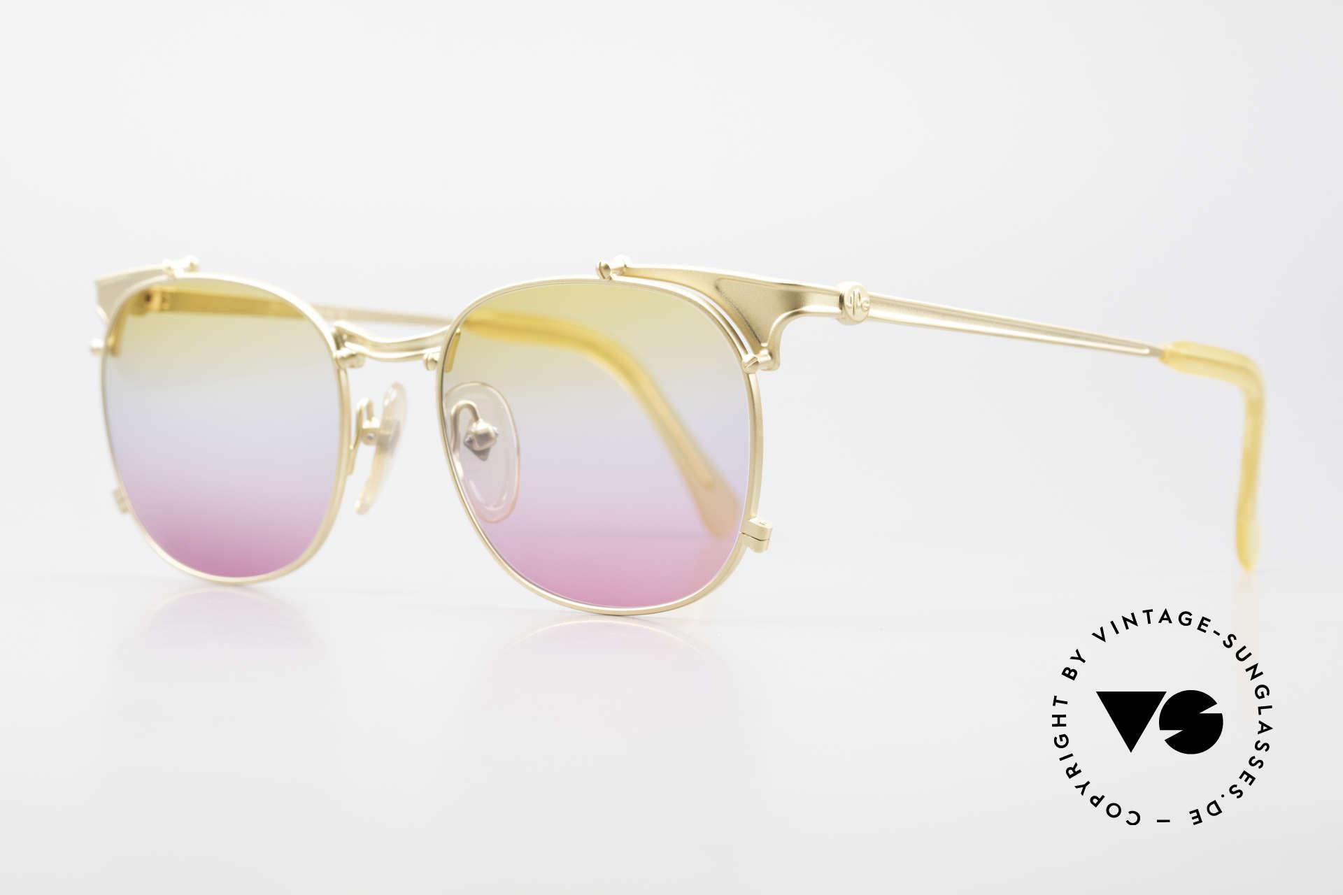 Jean Paul Gaultier 56-2175 Gläser in gelb pink Verlauf, J.P.G. Unisex-Modell in absoluter TOP-Qualität, Passend für Herren und Damen