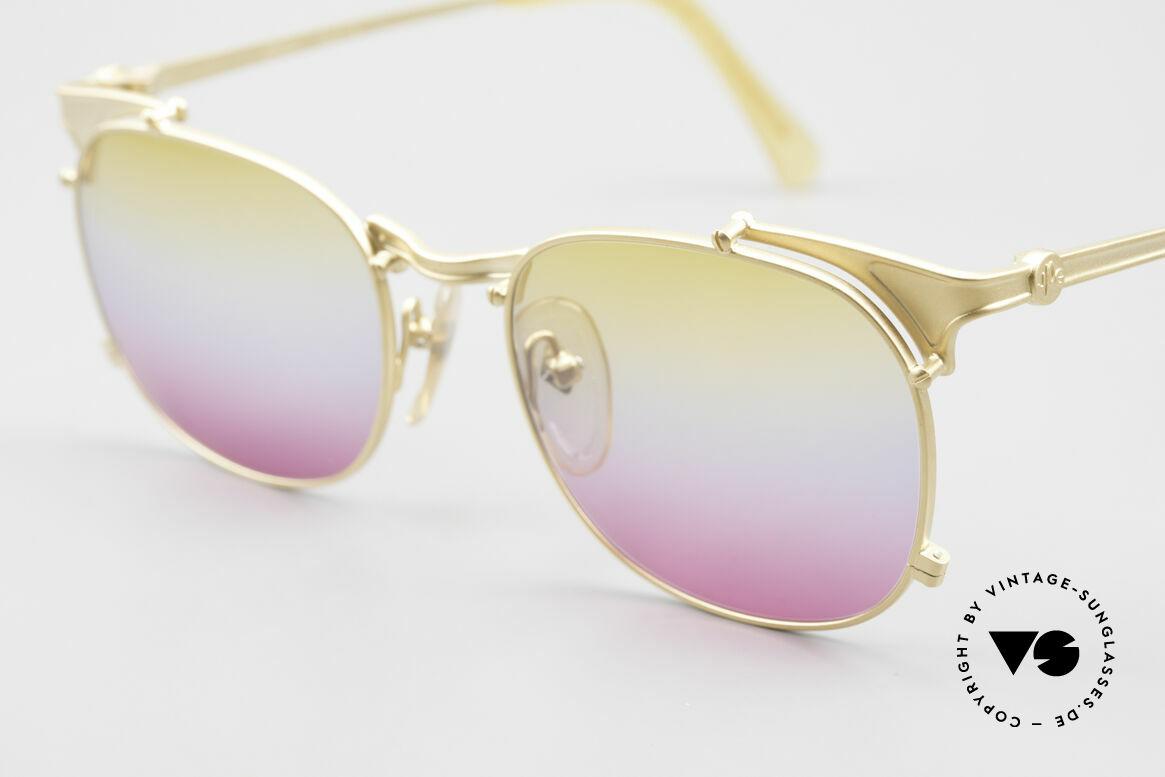 Jean Paul Gaultier 56-2175 Gläser in gelb pink Verlauf, spektakuläre Farbkombination von Gelb zu Pink, Passend für Herren und Damen