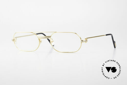 Cartier MUST LC Rose - S Limitierte Rosé Gold Brille Details