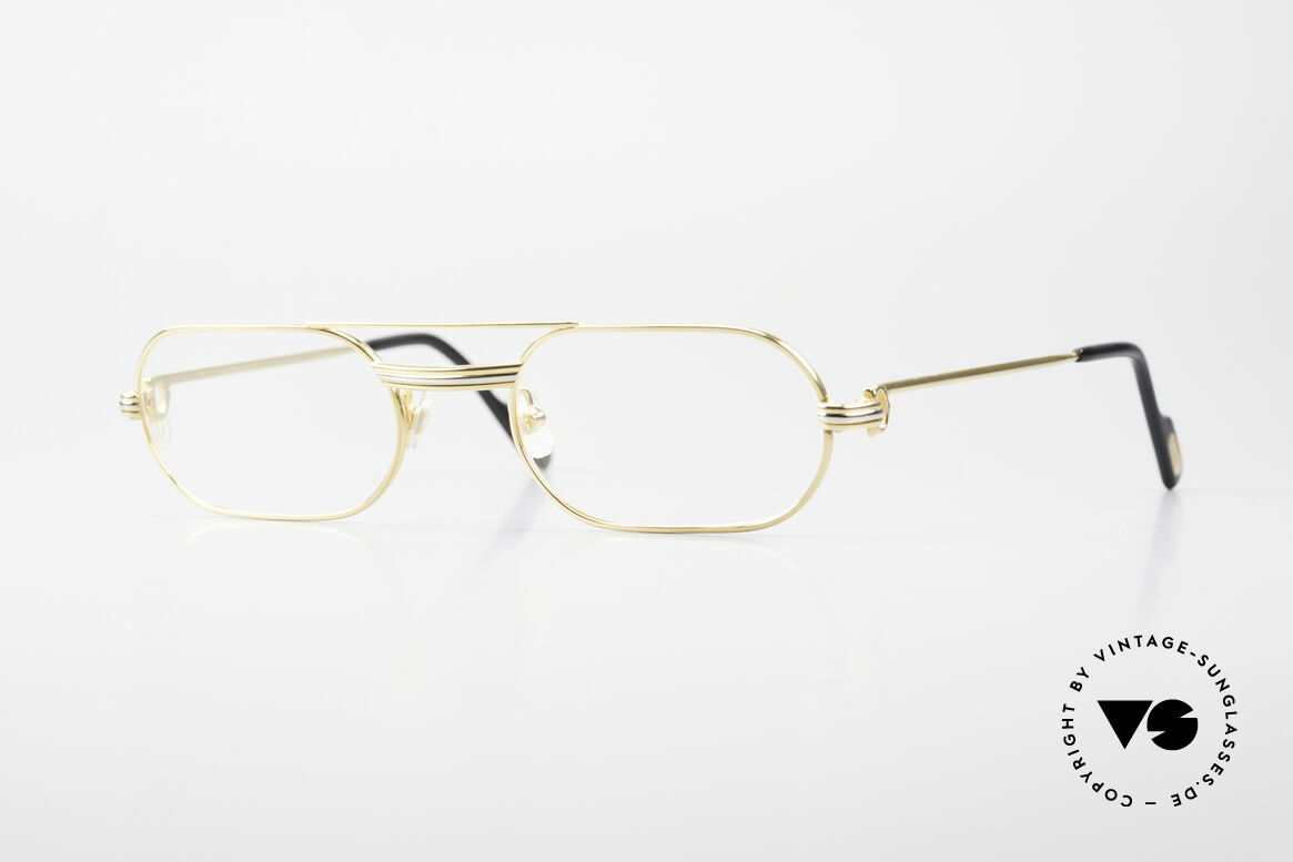 Cartier MUST LC Rose - S Limitierte Rosé Gold Brille, MUST: das erste Modell der Lunettes Collection '83, Passend für Herren und Damen