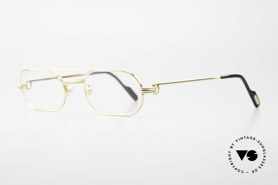 """Cartier MUST LC Rose - S Limitierte Rosé Gold Brille, getragen von Elton John (Video """"I'm still standing""""), Passend für Herren und Damen"""
