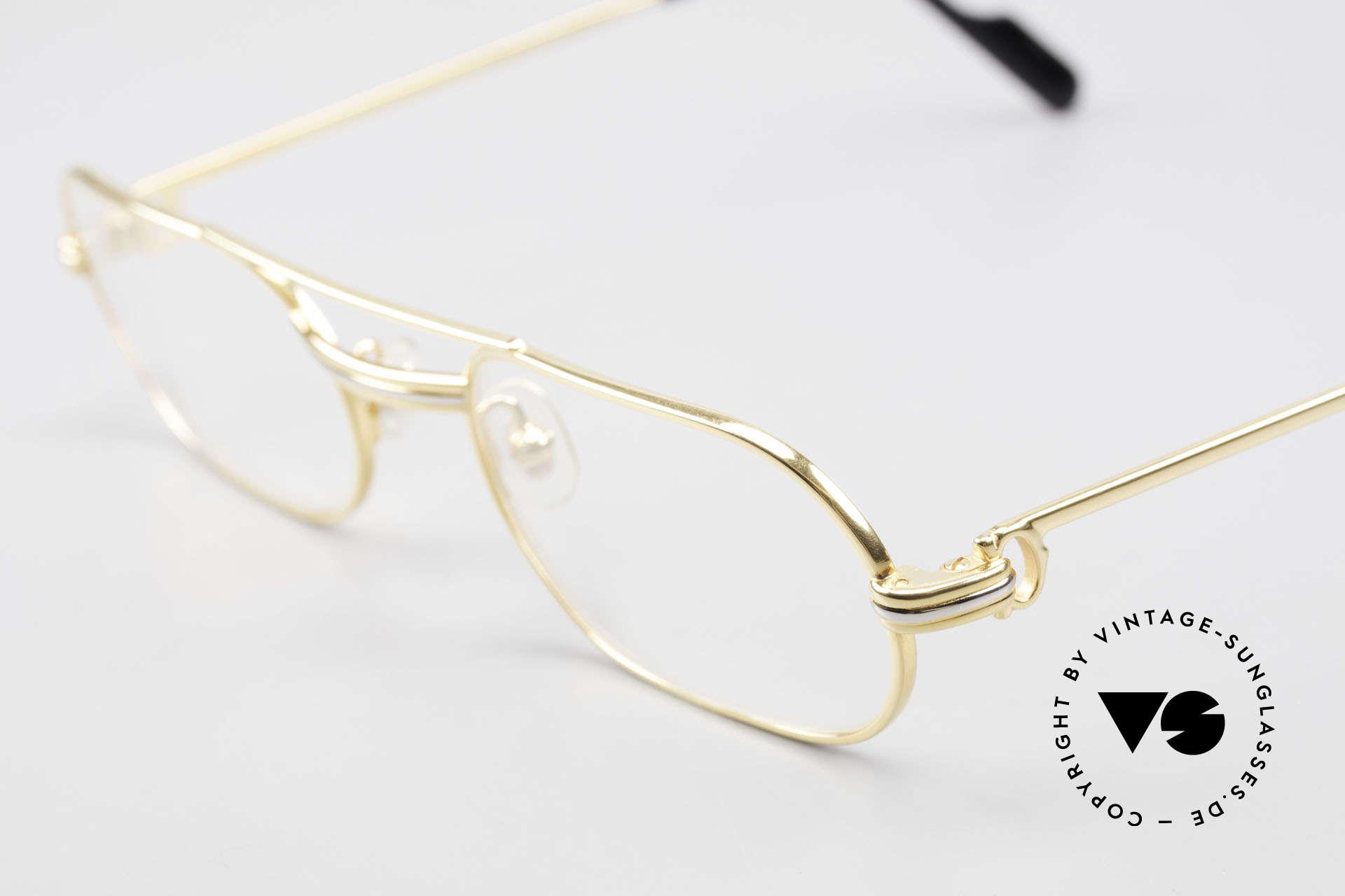 Cartier MUST LC Rose - S Limitierte Rosé Gold Brille, LIMITIERTE Rosé-Gold Serie (glänzt dadurch wärmer), Passend für Herren und Damen