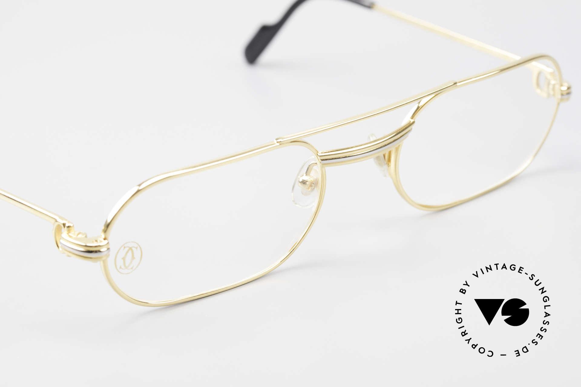 Cartier MUST LC Rose - S Limitierte Rosé Gold Brille, ungetragen mit OVP (in diesem Zustand sehr selten), Passend für Herren und Damen