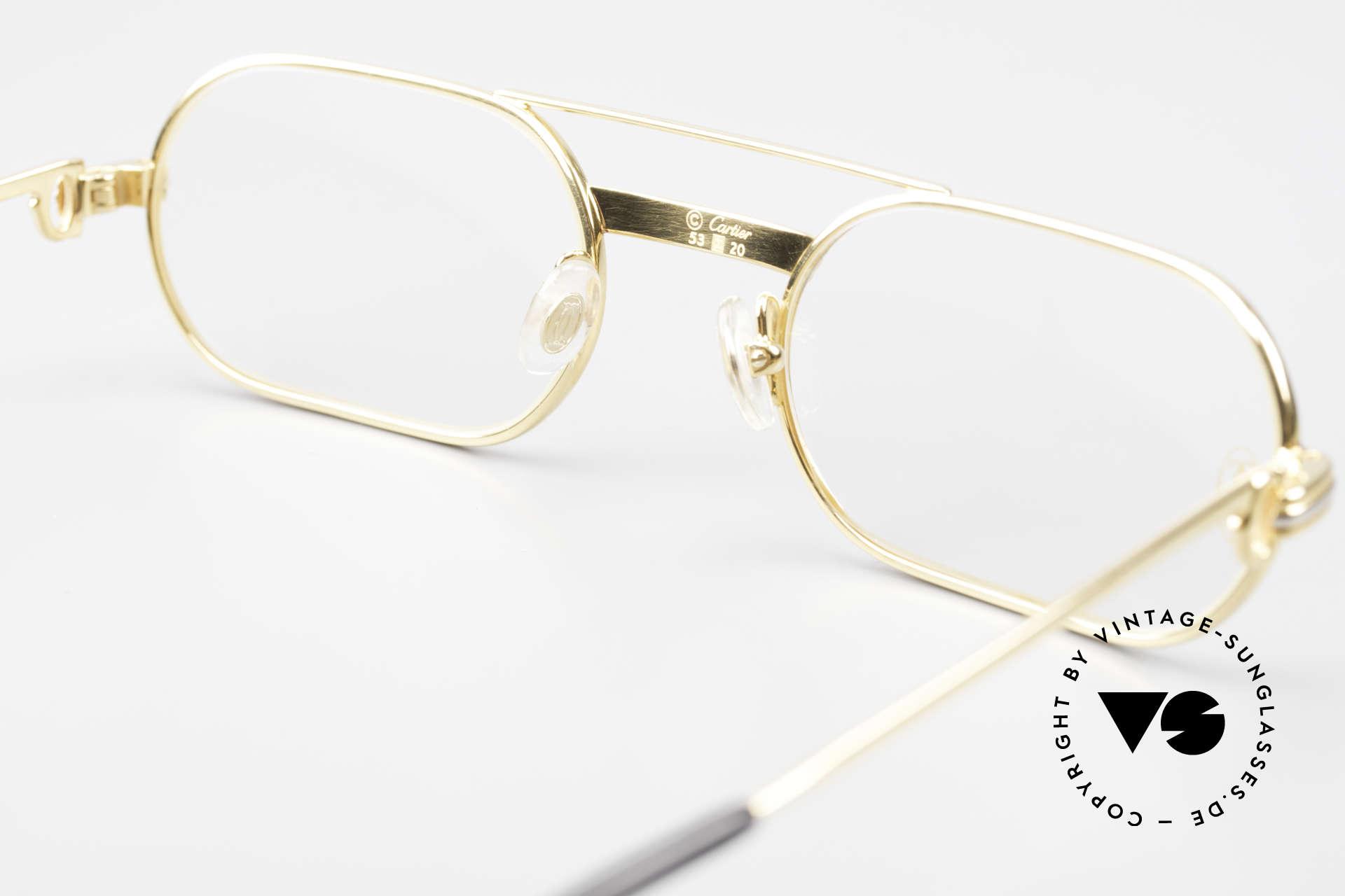 Cartier MUST LC Rose - S Limitierte Rosé Gold Brille, KEIN RETRO; ein 35 Jahre altes vintage ORIGINAL!, Passend für Herren und Damen