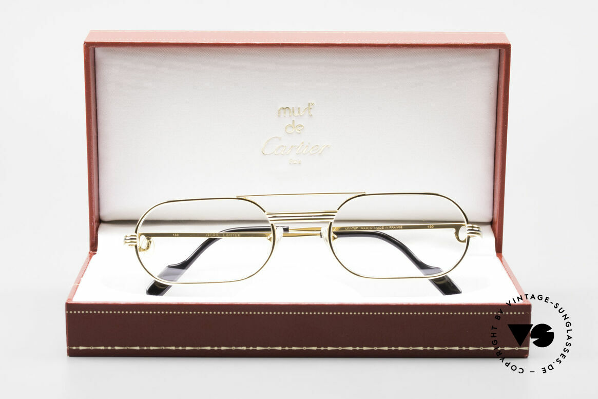 Cartier MUST LC Rose - S Limitierte Rosé Gold Brille, Größe: medium, Passend für Herren und Damen