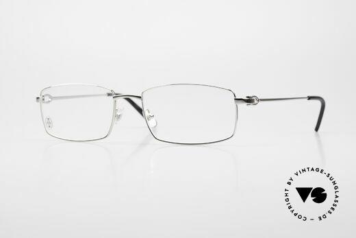 Cartier River Eckige Luxus Brille Platin Men Details