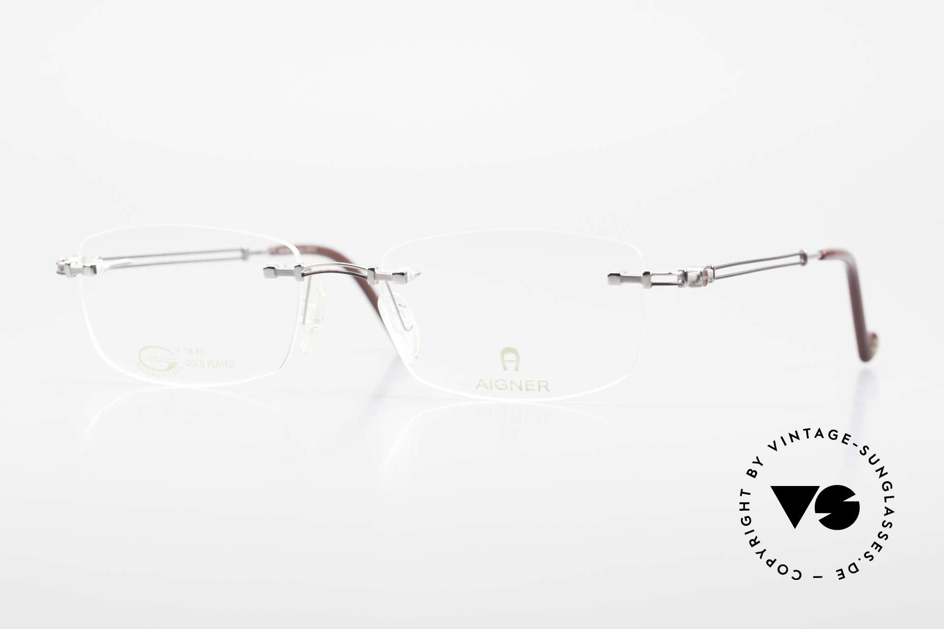 Aigner EA498 Randlose Vintage Brille 90er, randlose Aigner VINTAGE Brille, EA498, Gr. 53/18, 140, Passend für Herren und Damen