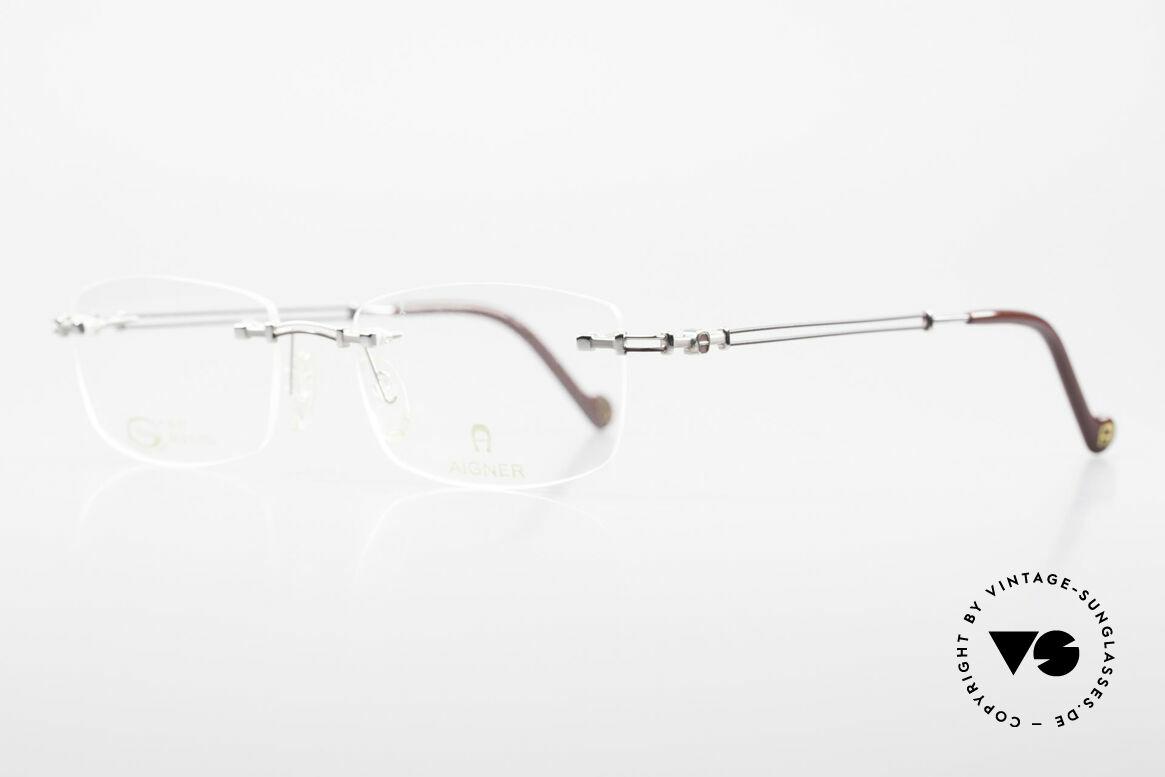 Aigner EA498 Randlose Vintage Brille 90er, Unisex Markenbrille, wirklich made in Germany Qualität, Passend für Herren und Damen