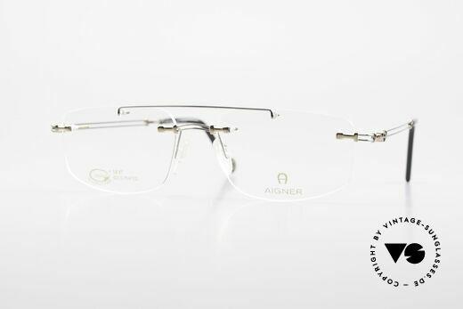 Aigner EA499 Randlose Vintage Brille Herren Details