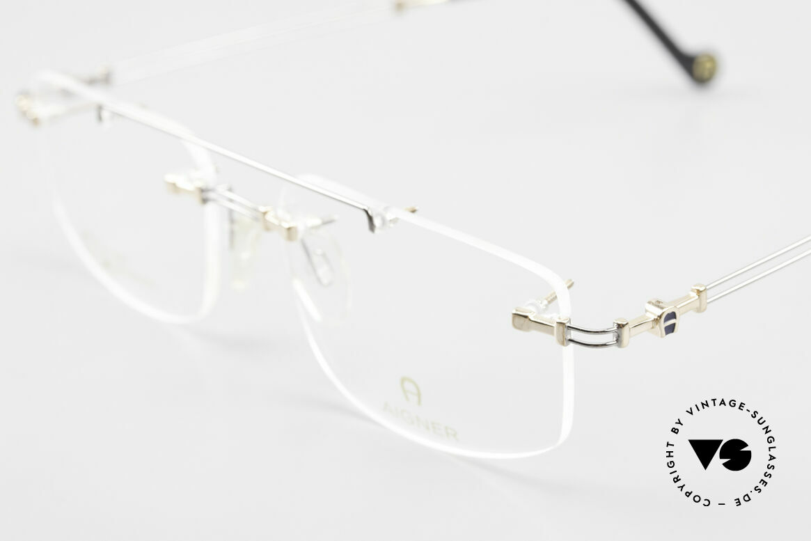 Aigner EA499 Randlose Vintage Brille Herren, allergiefrei & teils 18kt vergoldet (angenehm zu tragen), Passend für Herren