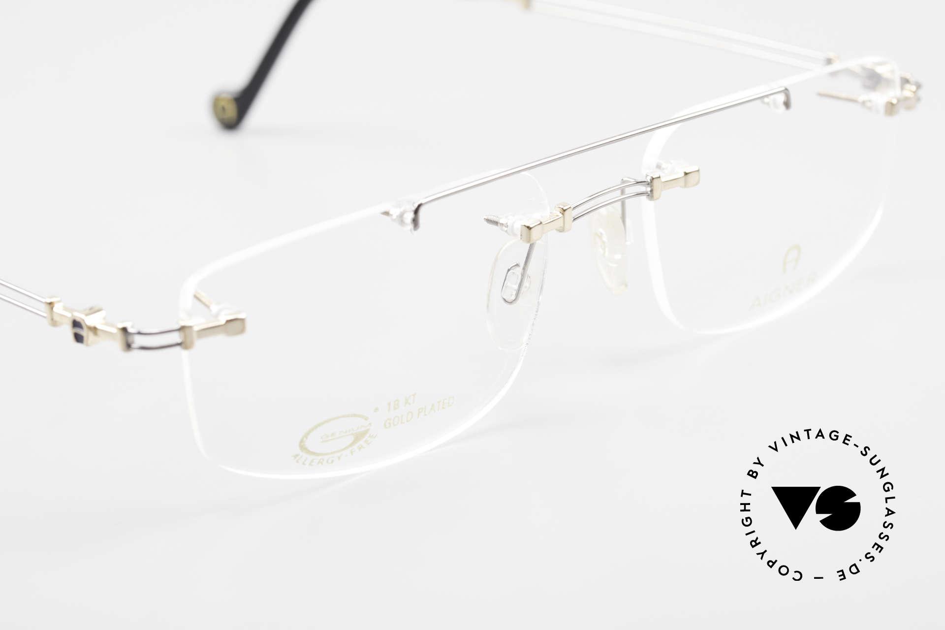 Aigner EA499 Randlose Vintage Brille Herren, KEINE RETROBRILLE, ein circa 25 Jahre altes ORIGINAL, Passend für Herren