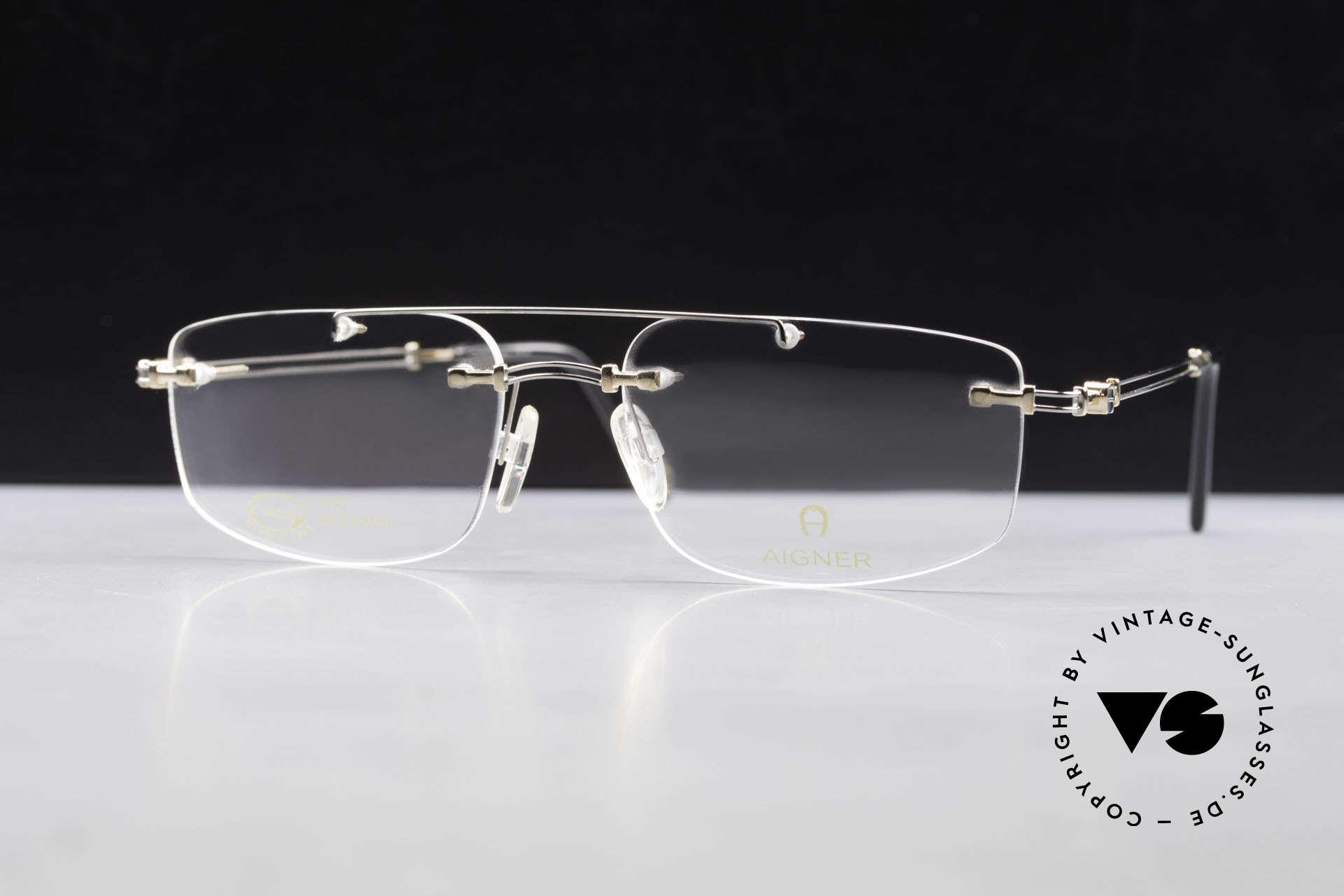 Aigner EA499 Randlose Vintage Brille Herren, Größe: large, Passend für Herren