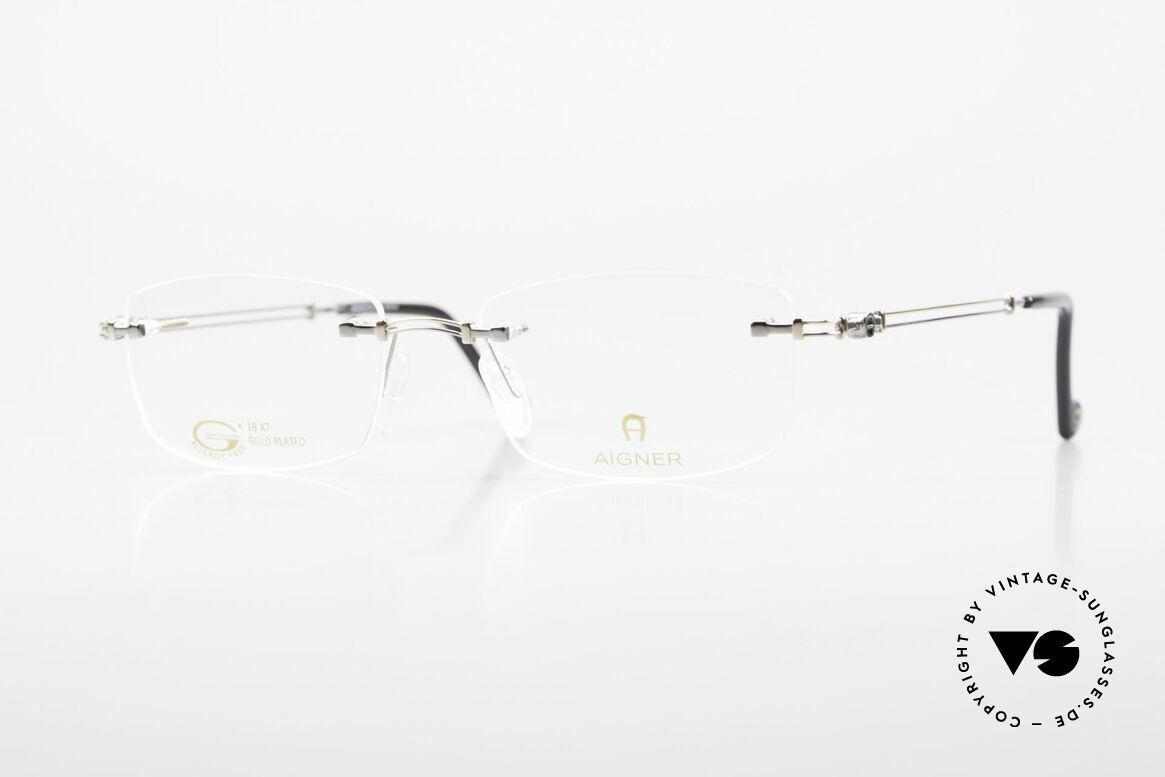 Aigner EA498 Randlose 90er Brille Unisex, randlose Aigner VINTAGE Brille, EA498, Gr. 53/18, 140, Passend für Herren und Damen