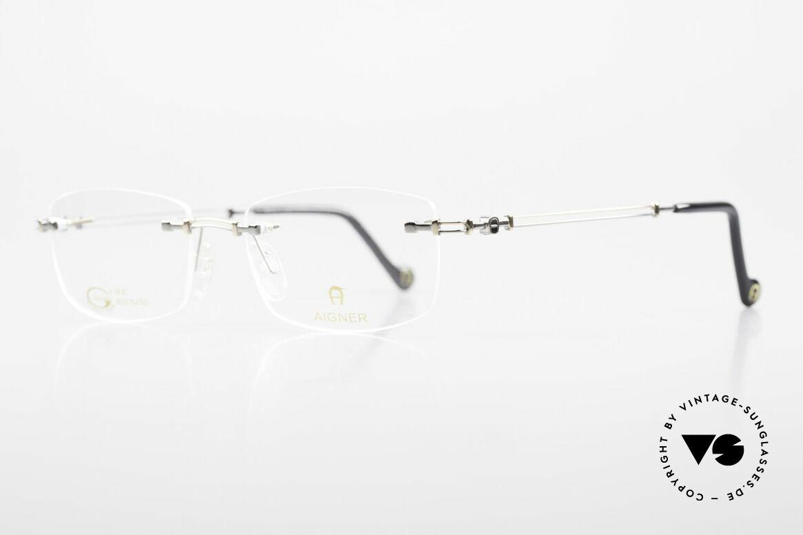 Aigner EA498 Randlose 90er Brille Unisex, Unisex Markenbrille, wirklich made in Germany Qualität, Passend für Herren und Damen