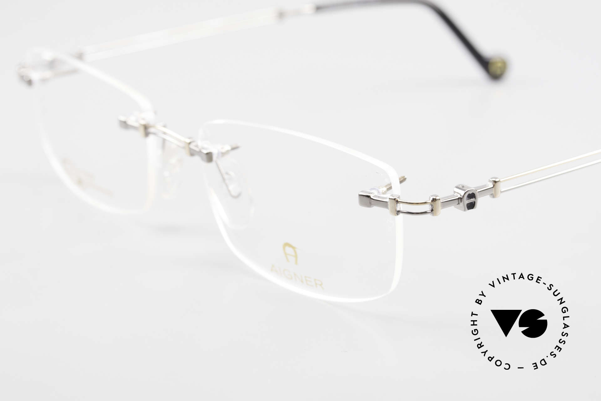 Aigner EA498 Randlose 90er Brille Unisex, allergiefrei & teils 18kt vergoldet (angenehm zu tragen), Passend für Herren und Damen