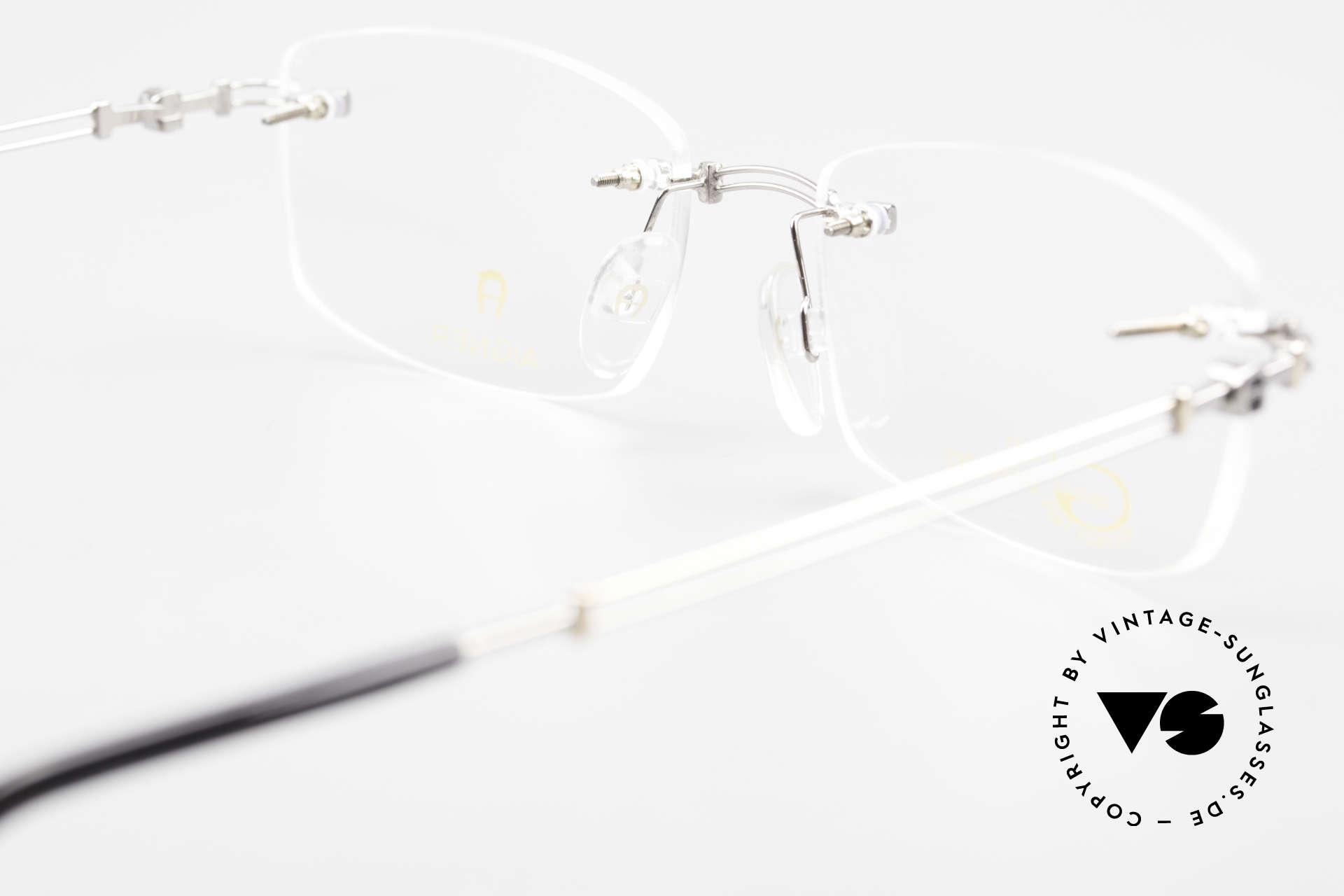 Aigner EA498 Randlose 90er Brille Unisex, Größe: medium, Passend für Herren und Damen