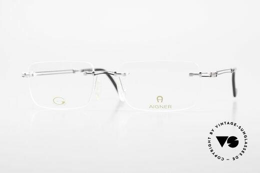 Aigner EA496 Randlose 90er Vintage Brille Details