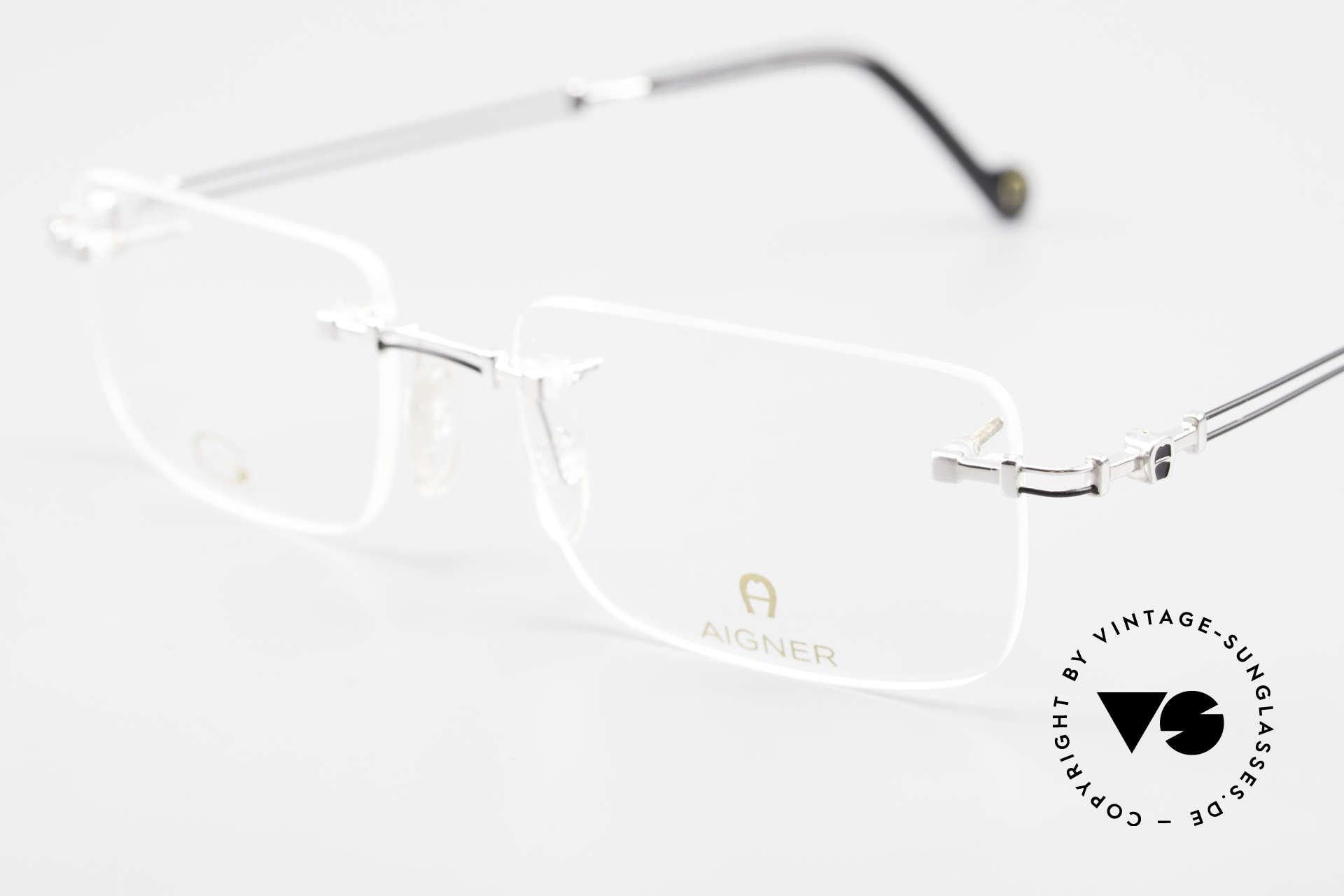 Aigner EA496 Randlose 90er Vintage Brille, sehr leichte und flexible Fassung (angenehm zu tragen), Passend für Herren
