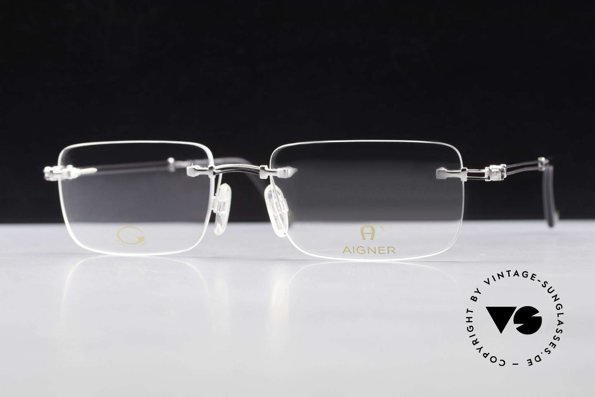 Aigner EA496 Randlose 90er Vintage Brille, Größe: large, Passend für Herren