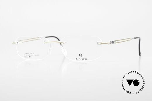 Aigner EA113 Vintage 90er Randlosbrille Details