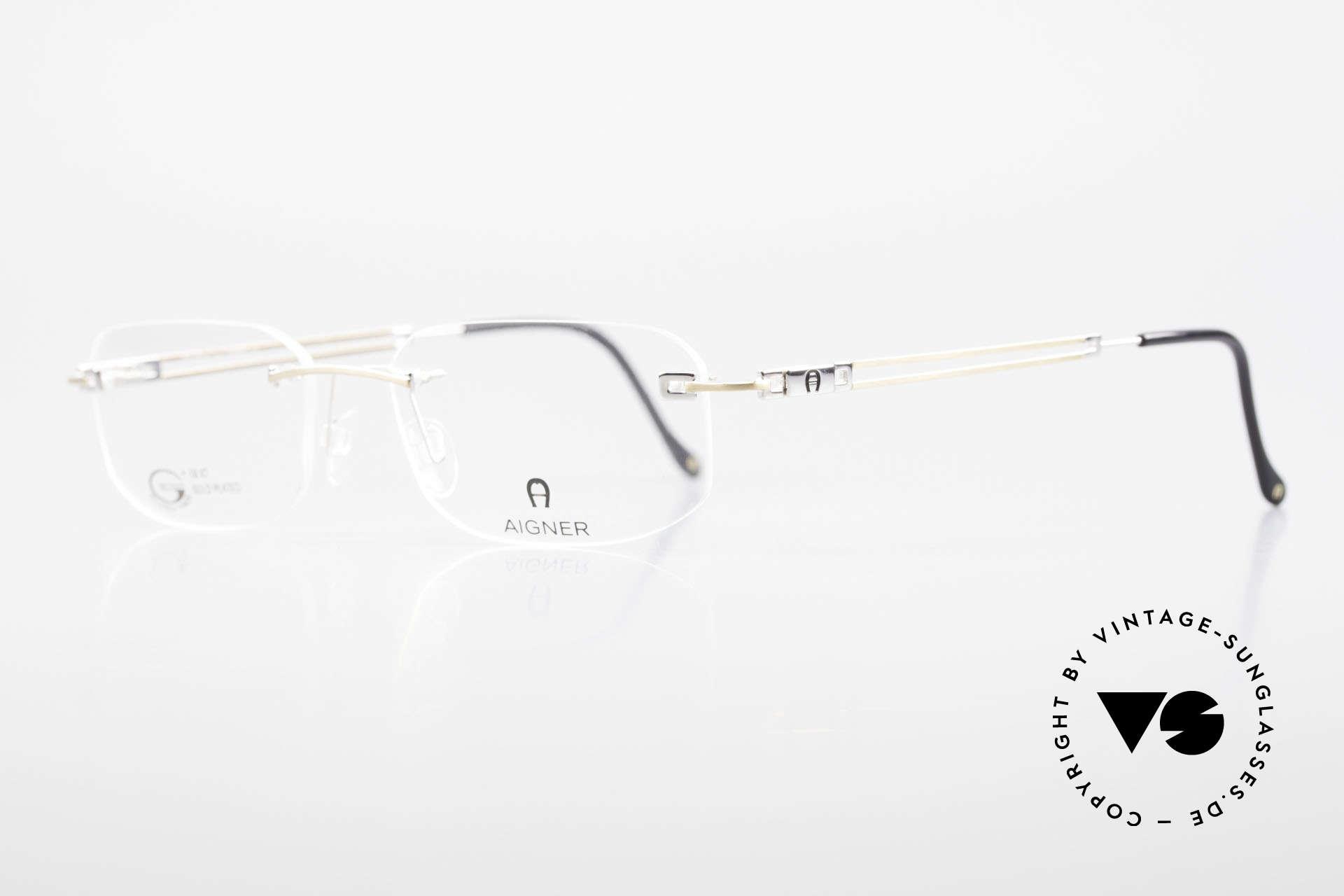 Aigner EA113 Vintage 90er Randlosbrille, Unisex Markenbrille, wirklich made in Germany Qualität, Passend für Herren und Damen