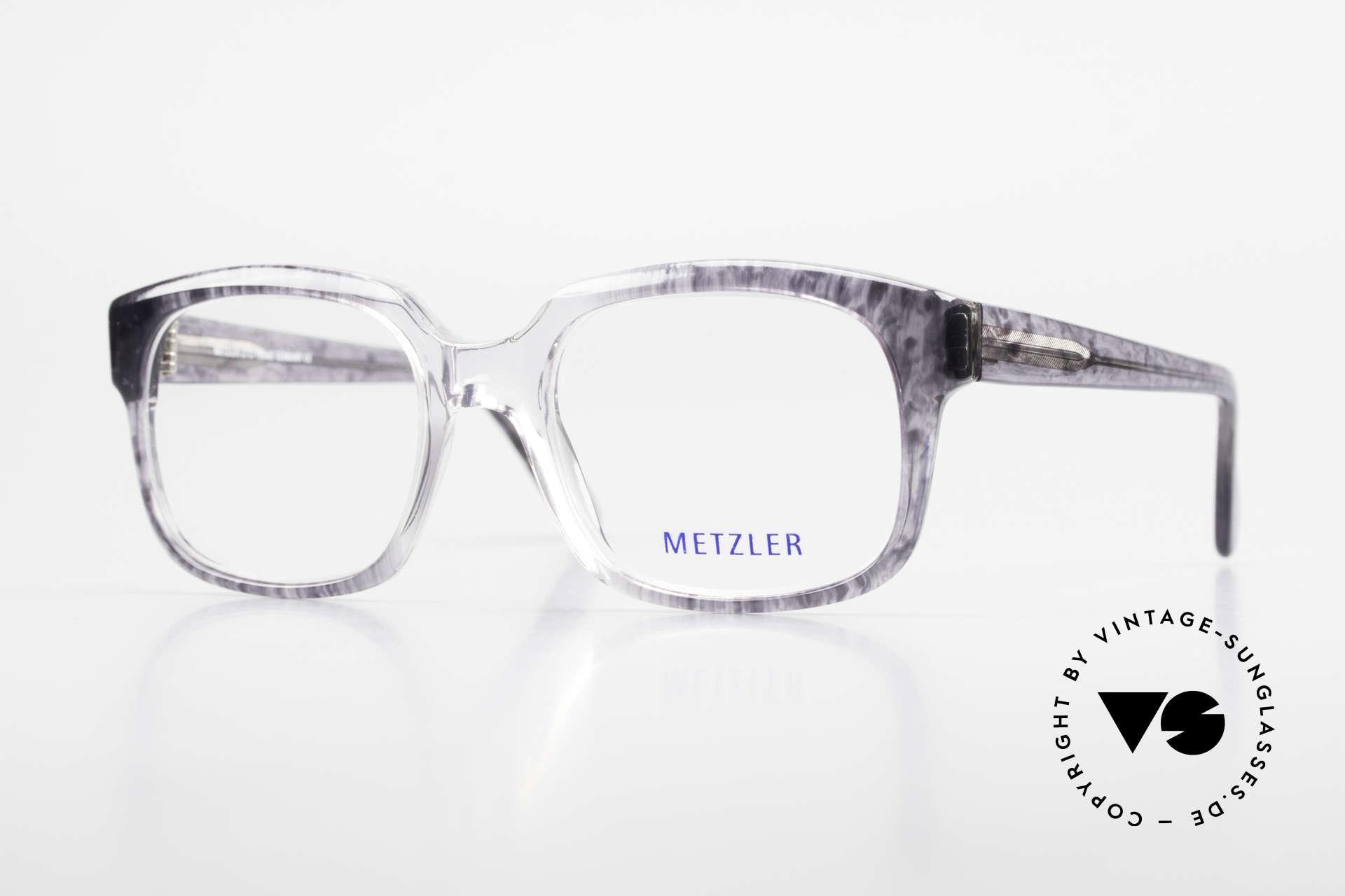 Metzler 7665 Medium 90er Jahre Old School Brille, Metzler VINTAGE Brille, 7665, in Gr. 54/20, 140, Passend für Herren