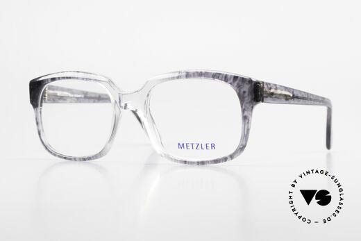 Metzler 7665 Medium 90er Jahre Old School Brille Details