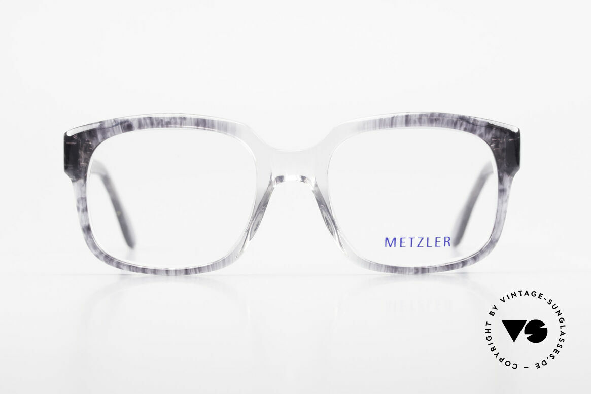 Metzler 7665 Medium 90er Jahre Old School Brille, ein altes Original der späten 80er / frühen 90er, Passend für Herren