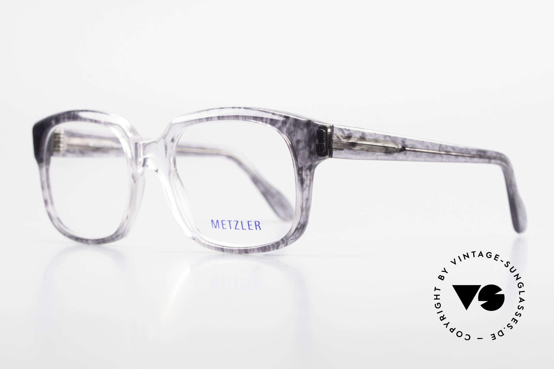 Metzler 7665 Medium 90er Jahre Old School Brille, heutzutage als 'OLD SCHOOL' Brille bezeichnet, Passend für Herren