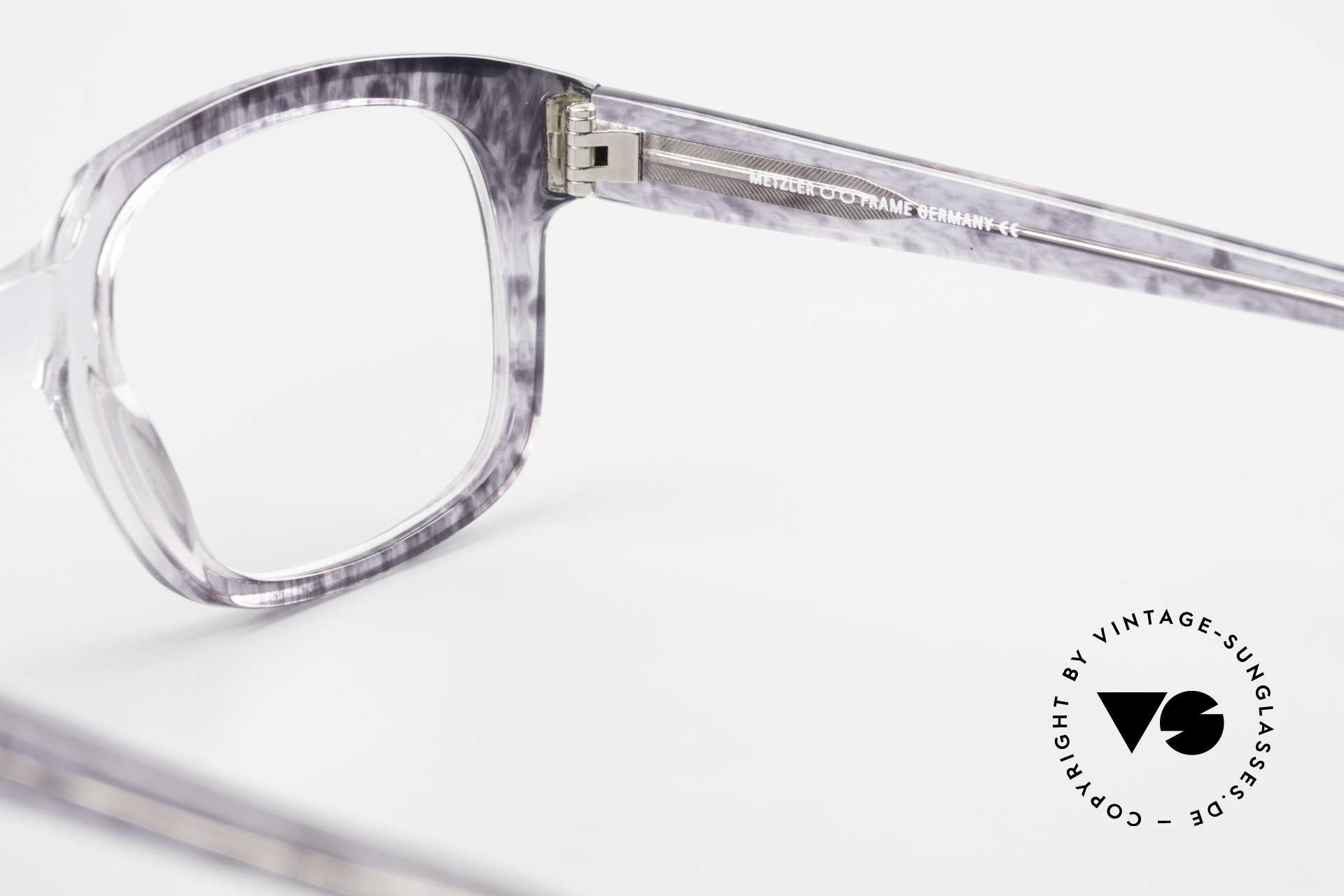Metzler 7665 Medium 90er Jahre Old School Brille, Größe: medium, Passend für Herren