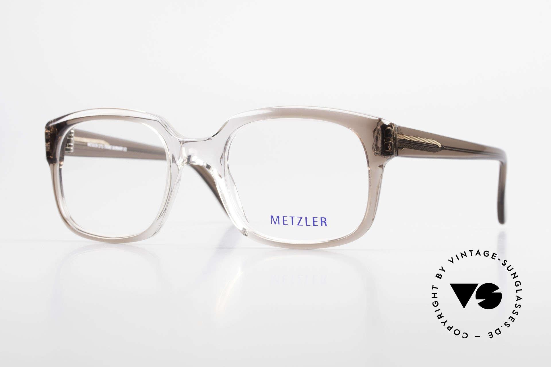 Metzler 7665 Medium Old School Brille 80er Jahre, Metzler VINTAGE Brille, 7665, in Gr. 54/22, 140, Passend für Herren