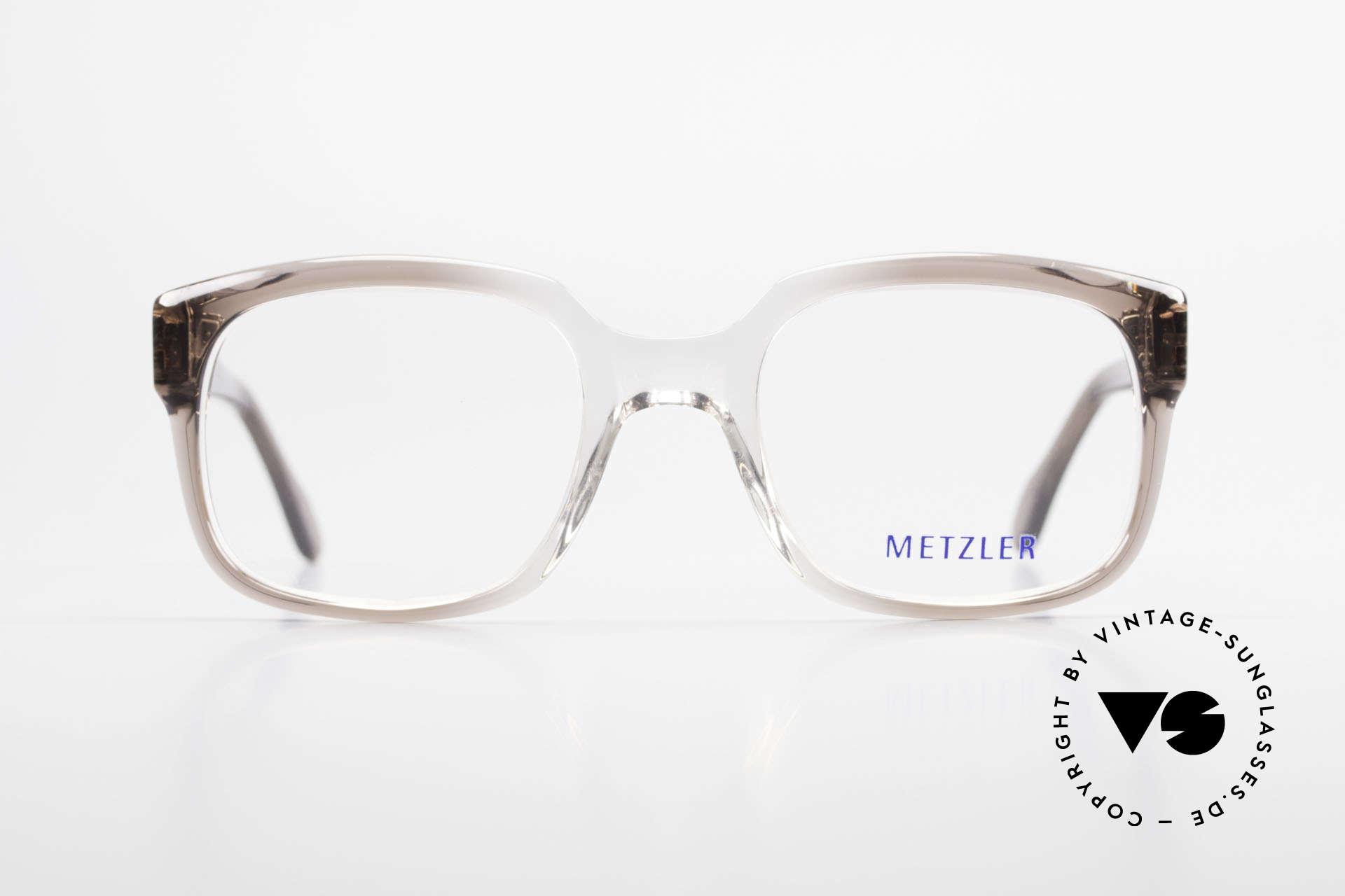 Metzler 7665 Medium Old School Brille 80er Jahre, ein altes Original der späten 80er / frühen 90er, Passend für Herren