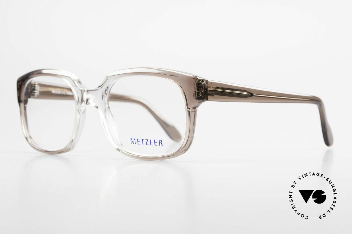 Metzler 7665 Medium Old School Brille 80er Jahre, heutzutage als 'OLD SCHOOL' Brille bezeichnet, Passend für Herren