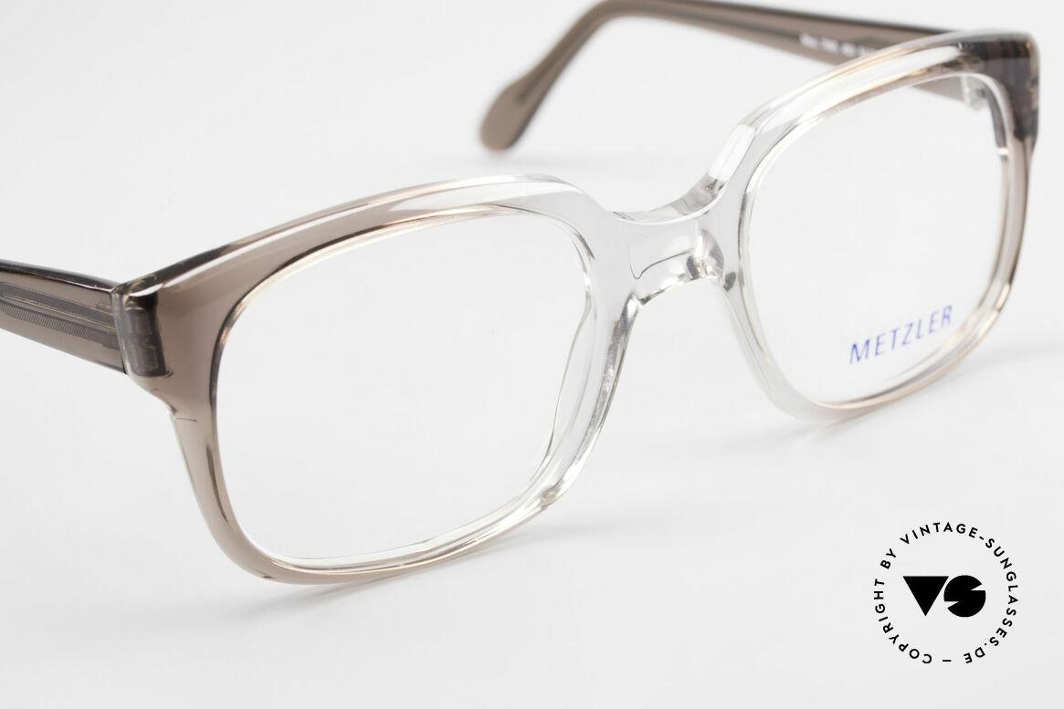 Metzler 7665 Medium Old School Brille 80er Jahre, KEINE Retrobrille; ein 'Made in Germany' Original, Passend für Herren