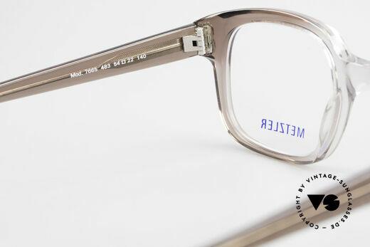 Metzler 7665 Medium Old School Brille 80er Jahre, Fassung in 'M' bis 'L' Größe ist beliebig verglasbar, Passend für Herren