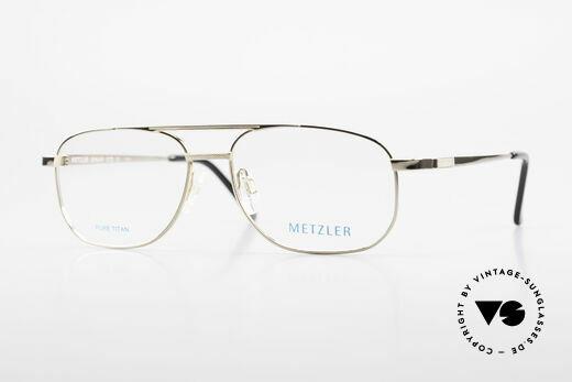 Metzler 1678 Vintage Herrenbrille 90er Titan Details