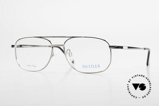 Metzler 1678 Titan Brille 90er Herrenbrille Details
