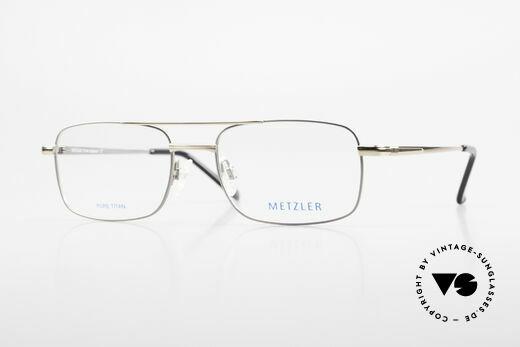 Metzler 1680 90er Titan Brille Für Herren Details