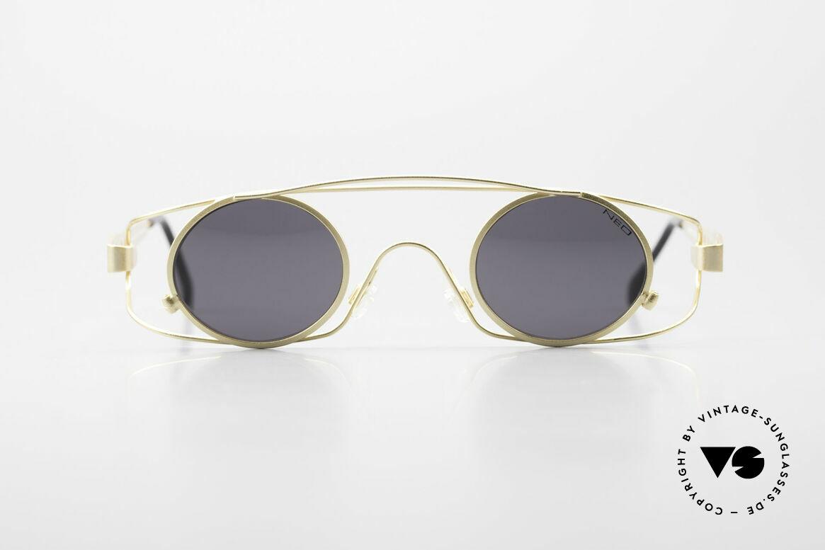 Neostyle Holiday 975 Crazy 90er Brille Steampunk, einzigartige vintage 90er Sonnenbrille von Neostyle, Passend für Herren und Damen