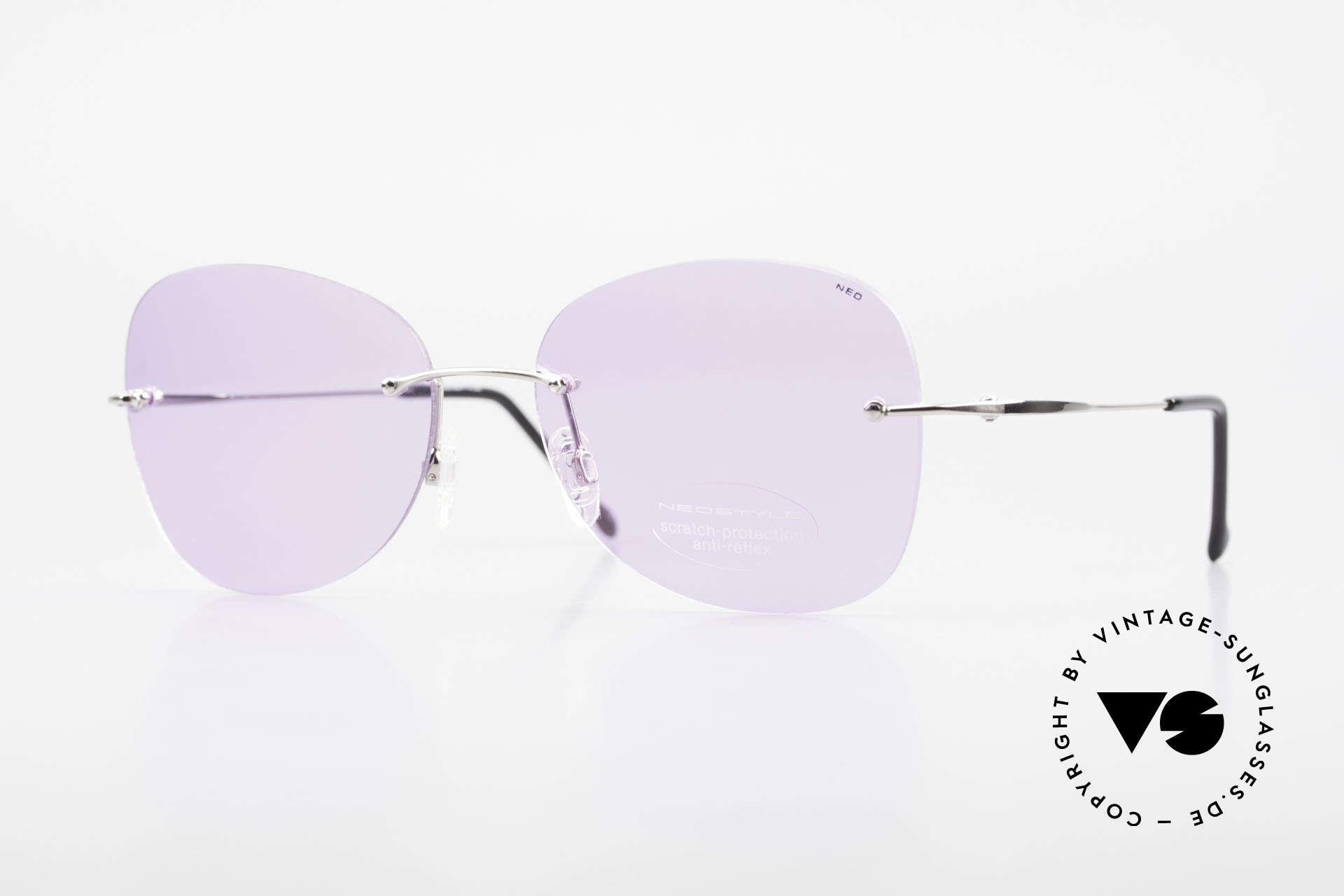 Neostyle Holiday 2051 Randlose Sonnenbrille Damen, randlose XXL Sonnenbrille für Damen aus den 90ern, Passend für Damen