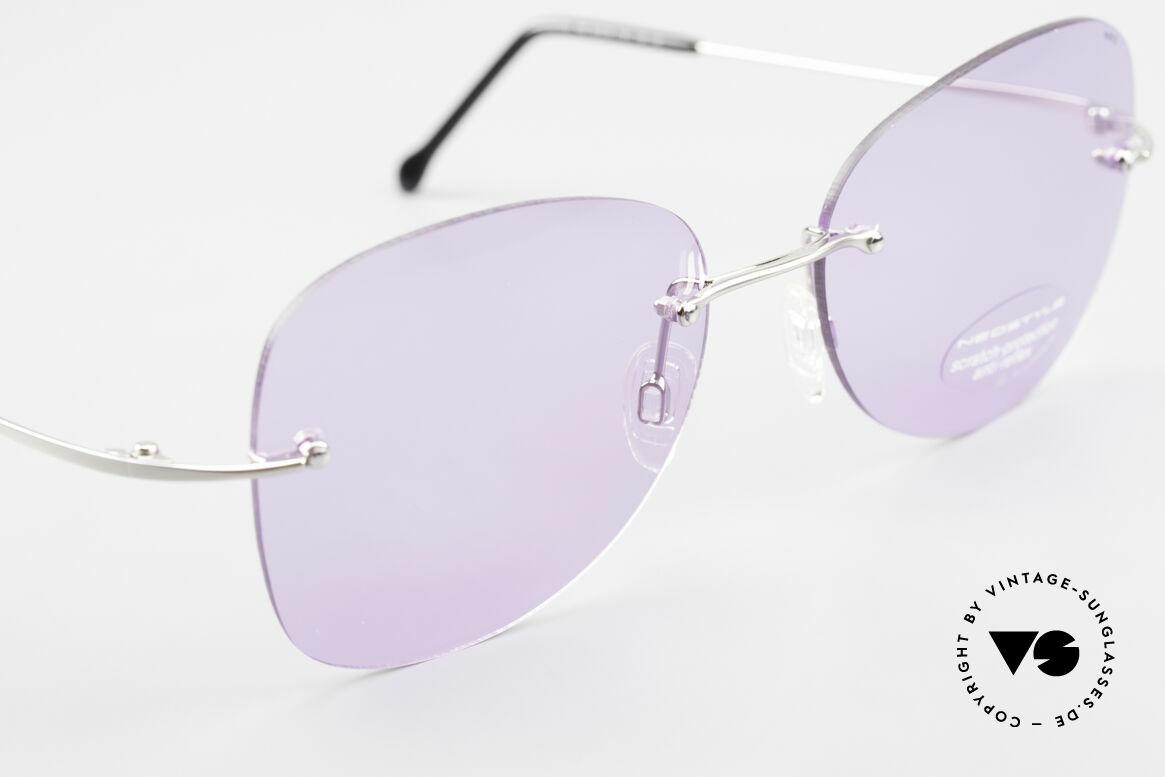 Neostyle Holiday 2051 Randlose Sonnenbrille Damen, ungetragen (wie alle unsere vintage Neostyle Brillen), Passend für Damen