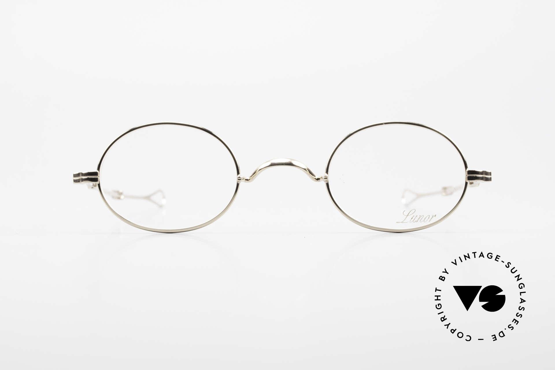 Lunor I 10 Telescopic Lunor Brille Oval Teleskop, minimalistische Brille; stilvoll in zeitloser Eleganz, Passend für Herren und Damen