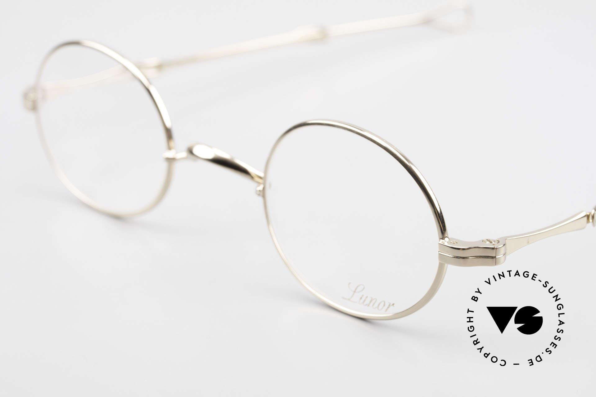Lunor I 10 Telescopic Lunor Brille Oval Teleskop, ausziehbare Brillenbügel (= teleskopartige Bügel), Passend für Herren und Damen
