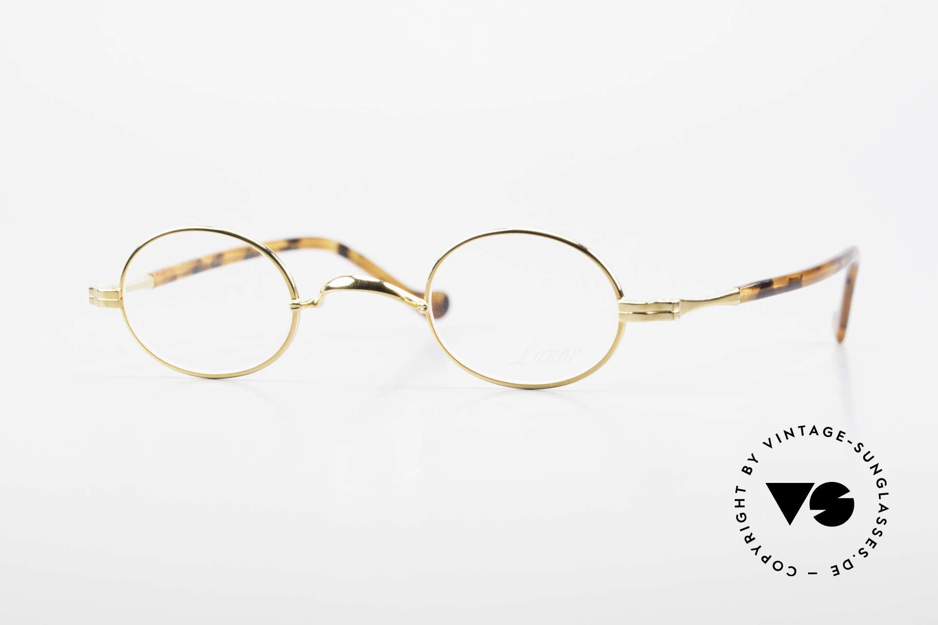 """Lunor II A 04 Extra Kleine Brille Oval Vintage, X-kleine ovale Lunor Brille d. alten Lunor """"II-A"""" Serie, Passend für Herren und Damen"""