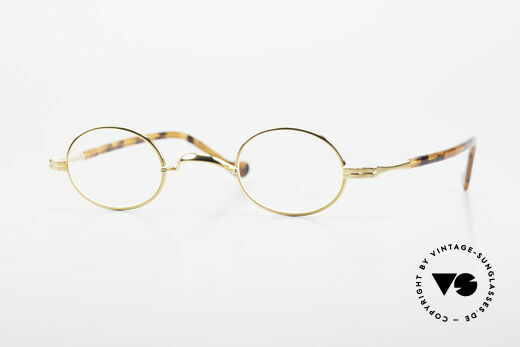 Lunor II A 04 Lunor Brille Oval Vintage Gold Details